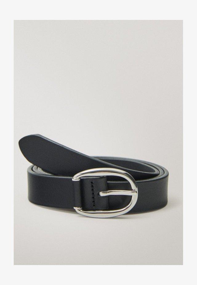 GÜRTEL AUS SCHWARZEM LEDER MIT DOPPELTER SCHNALLE 06113638 - Cintura - black