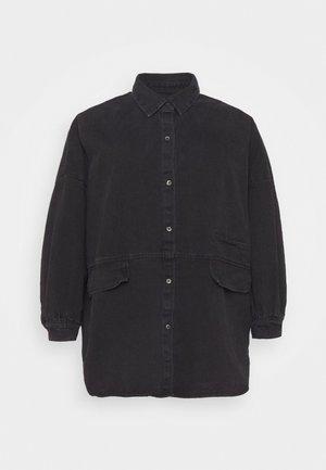 POCKET  - Button-down blouse - black