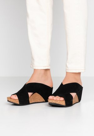 FRANCES  - Heeled mules - black