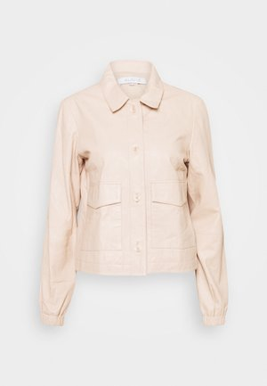 CAMPBELL  - Leather jacket - buttermilk