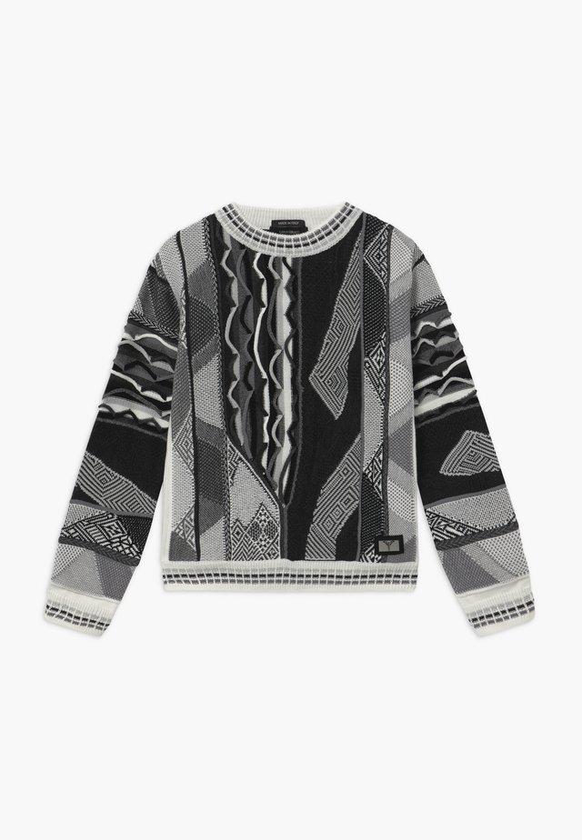 Sweter - white black grey