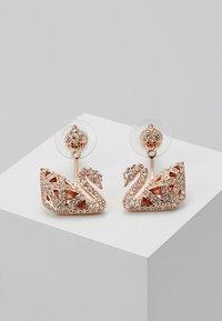 Swarovski - FACET SWAN - Earrings - rosegold-coloured - 0