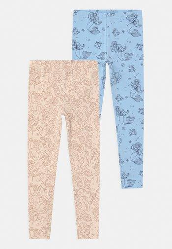 DISNEY PRINCESSES ARIELLE 2 PACK - Leggings - light blue/ beige