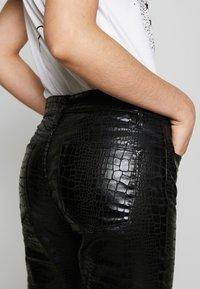 Frame Denim - LE HIGH CROC - Jeans Skinny - noir - 3