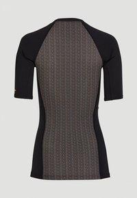O'Neill - ANGLET  - Rash vest - black with yellow - 1