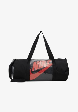 HERITAGE - Sports bag - black/laser crimson