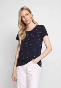 GAP - FAV CREW - T-shirts med print - navy - 0