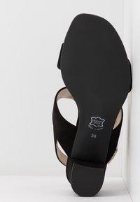 Brenda Zaro Wide Fit - WIDE FIT POLAR NEW - Sandals - black - 6