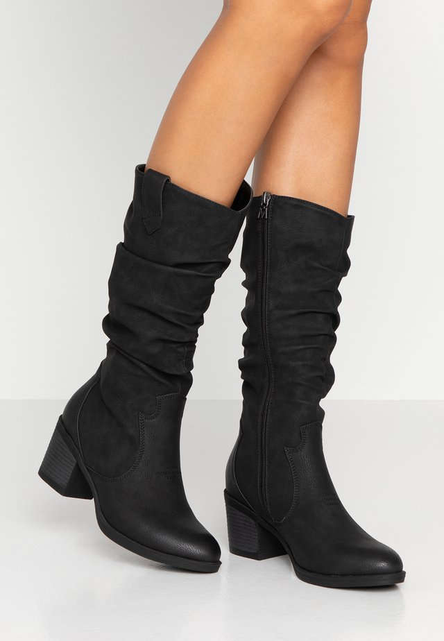 AMBER - Boots - tango black