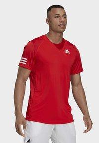 adidas Performance - 3-STREIFEN - T-shirt imprimé - red - 4
