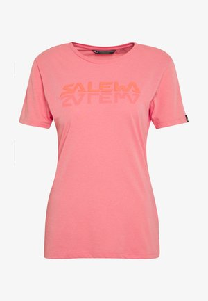 GRAPHIC TEE - Print T-shirt - shell pink melange