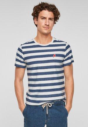 Print T-shirt - white stripes