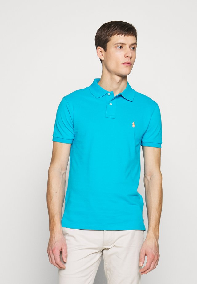 SHORT SLEEVE KNIT - Polo - cove blue