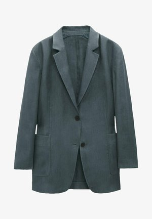 OVERSIZE - Short coat - metallic grey
