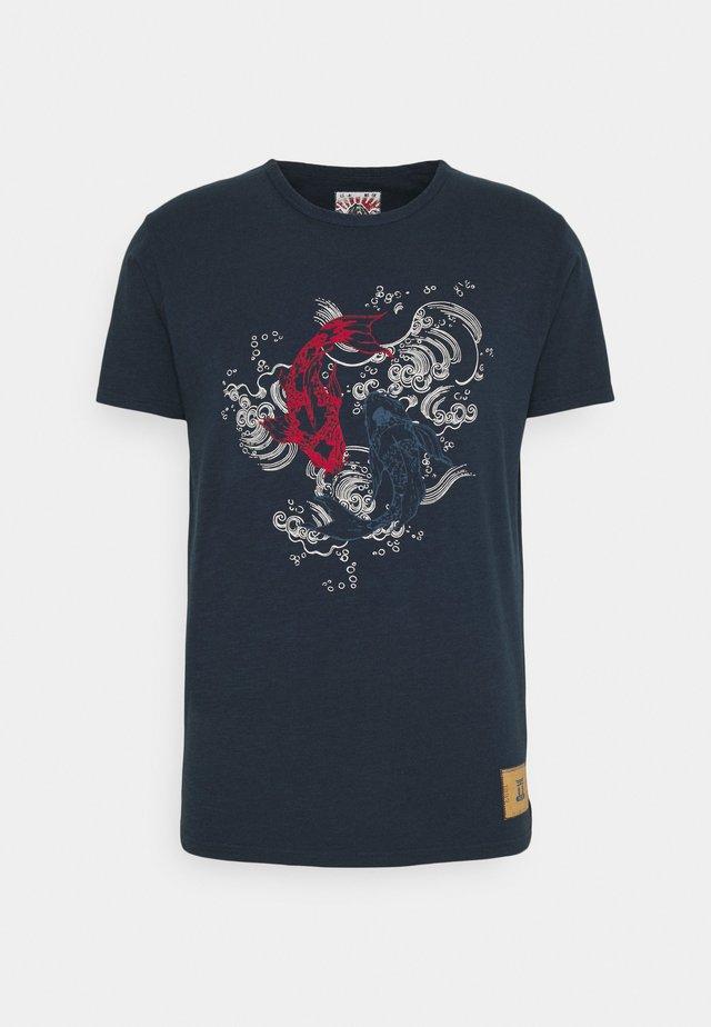 KOI - Print T-shirt - navy