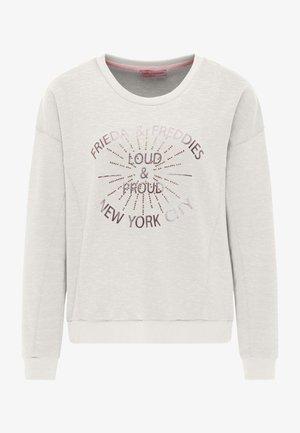 SWEATSHIRT MIT GLANZDETAILS - Sweatshirt - off white