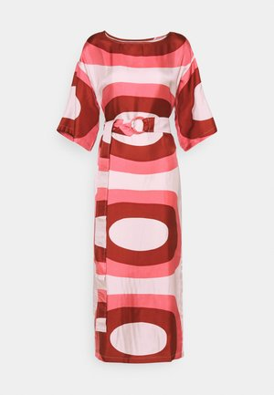 HIMMEÄ MELOONI - Maxi dress - red/pink/ beige
