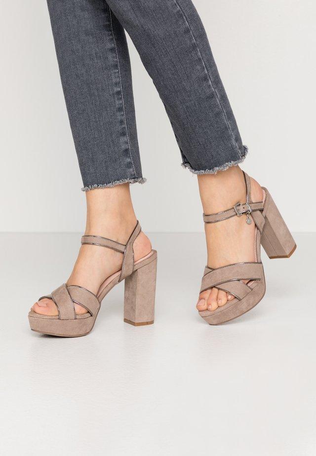 Sandali con tacco - taupe