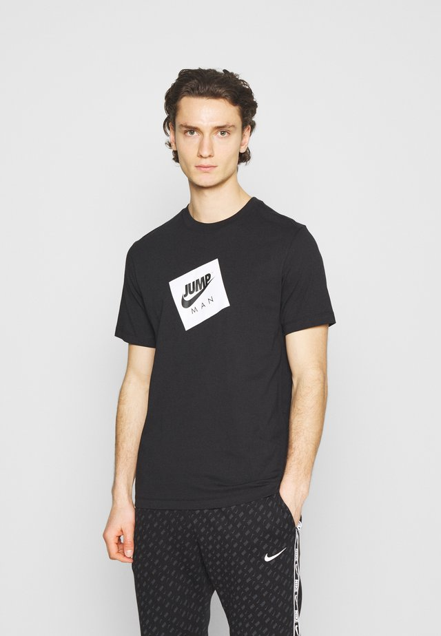 JUMPMAN BOX CREW - Camiseta estampada - black/white