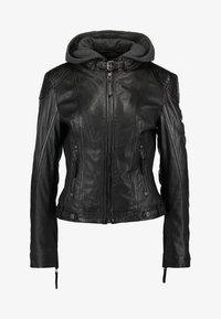 CACEY LEGV - Leather jacket - black
