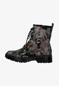Tamaris - BOOTS - Lace-up ankle boots - snake comb - 0