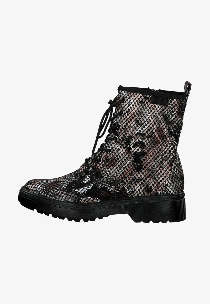Tamaris - BOOTS - Lace-up ankle boots - snake comb