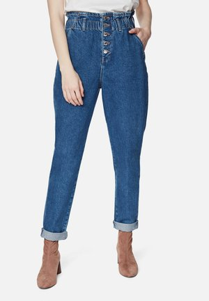 SHELLY - Jeans Tapered Fit - indigo blue denim