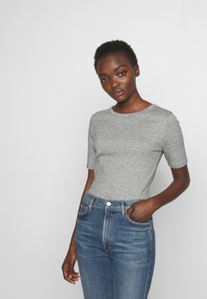CREWNECK ELBOW SLEEVE - T-Shirt basic - heather dusk