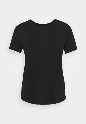 WHISPER CREWNECK TEE - Basic T-shirt - true black