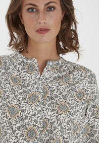 Fransa - Button-down blouse - green flower mix - 3