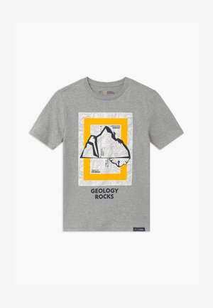 BOYS NATIONAL GEOGRAPHIC - Print T-shirt - grey