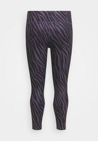 Nike Performance - ONE 7/8  - Leggings - dark raisin/white - 1