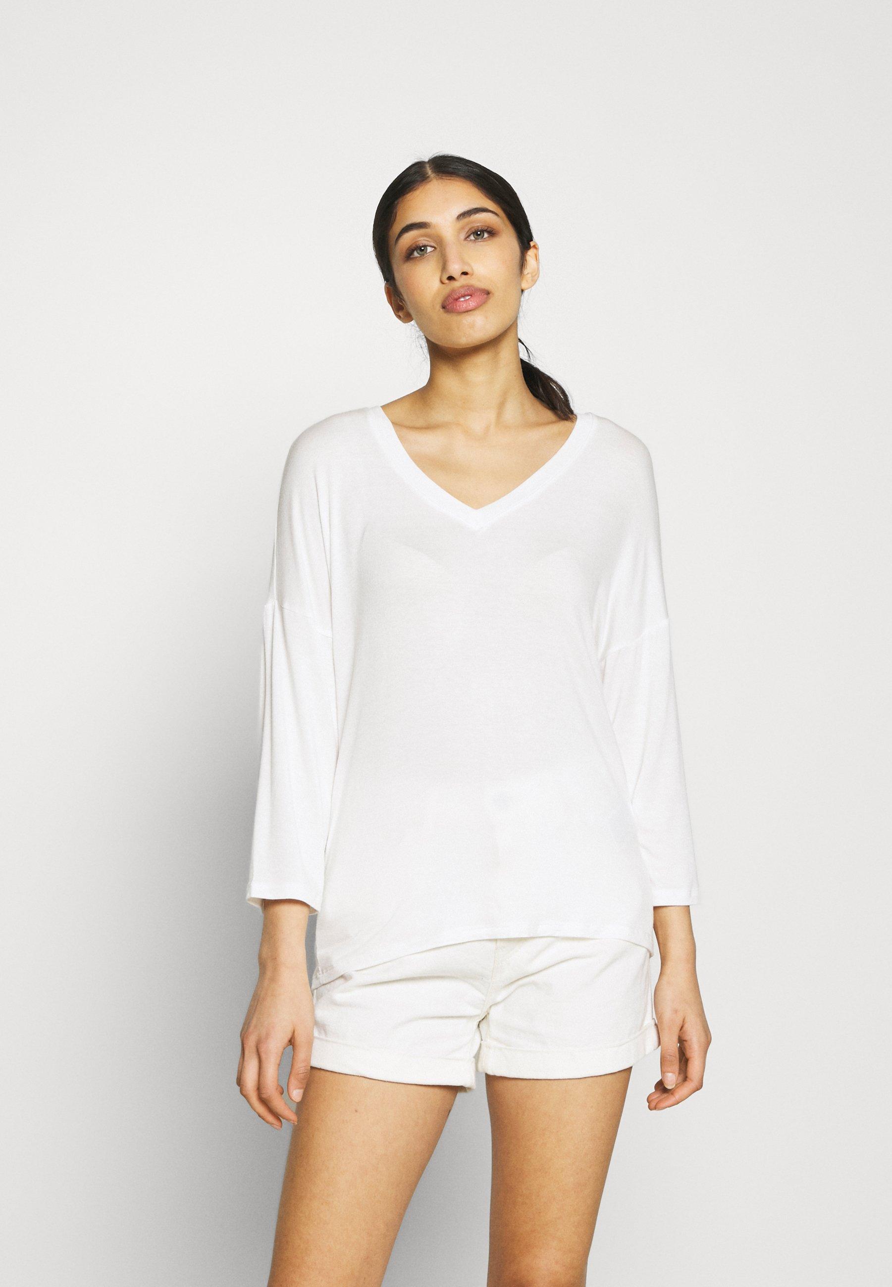 Femme VIAMELLIA V NECK - T-shirt à manches longues