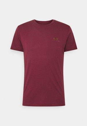 BASIC SMALL LOGO FOIL PRINT - T-paita - burgundy/gold