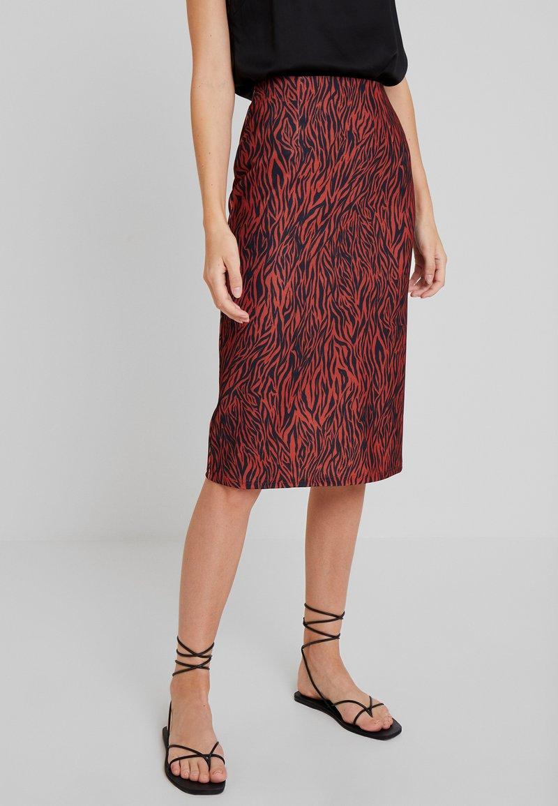 Anna Field - A-line skirt - burnt henna
