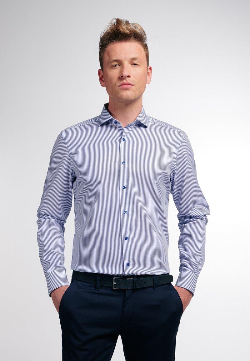 Eterna - SLIM FIT - Shirt - blau/weiß