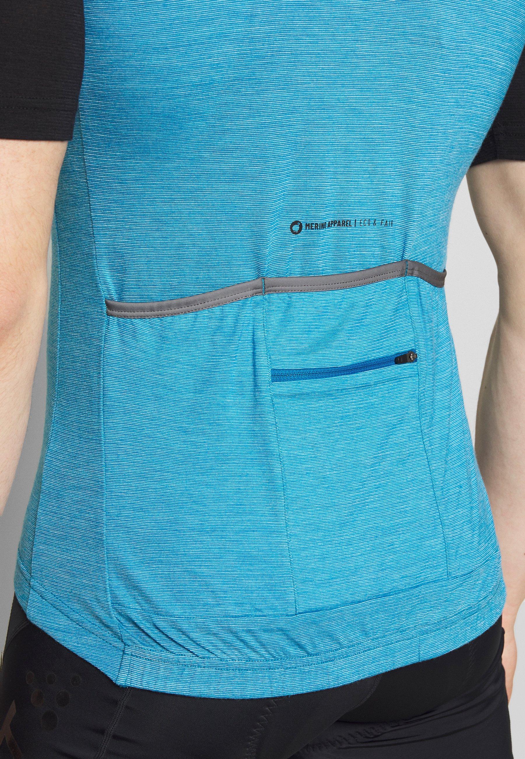 Triple2 VELOZIP NUL MEN - T-shirt imprimé - mykonos blue