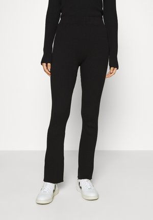 LONG LINES FLARE - Trousers - black