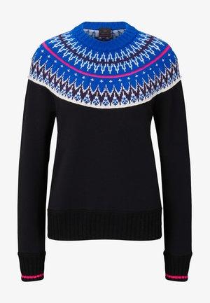 Pullover - schwarz/blau