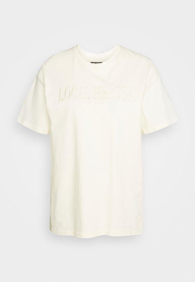 CREAM TEE - T-shirt med print - cream