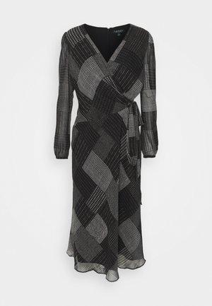 PRINTED DRESS - Kjole - black/grey