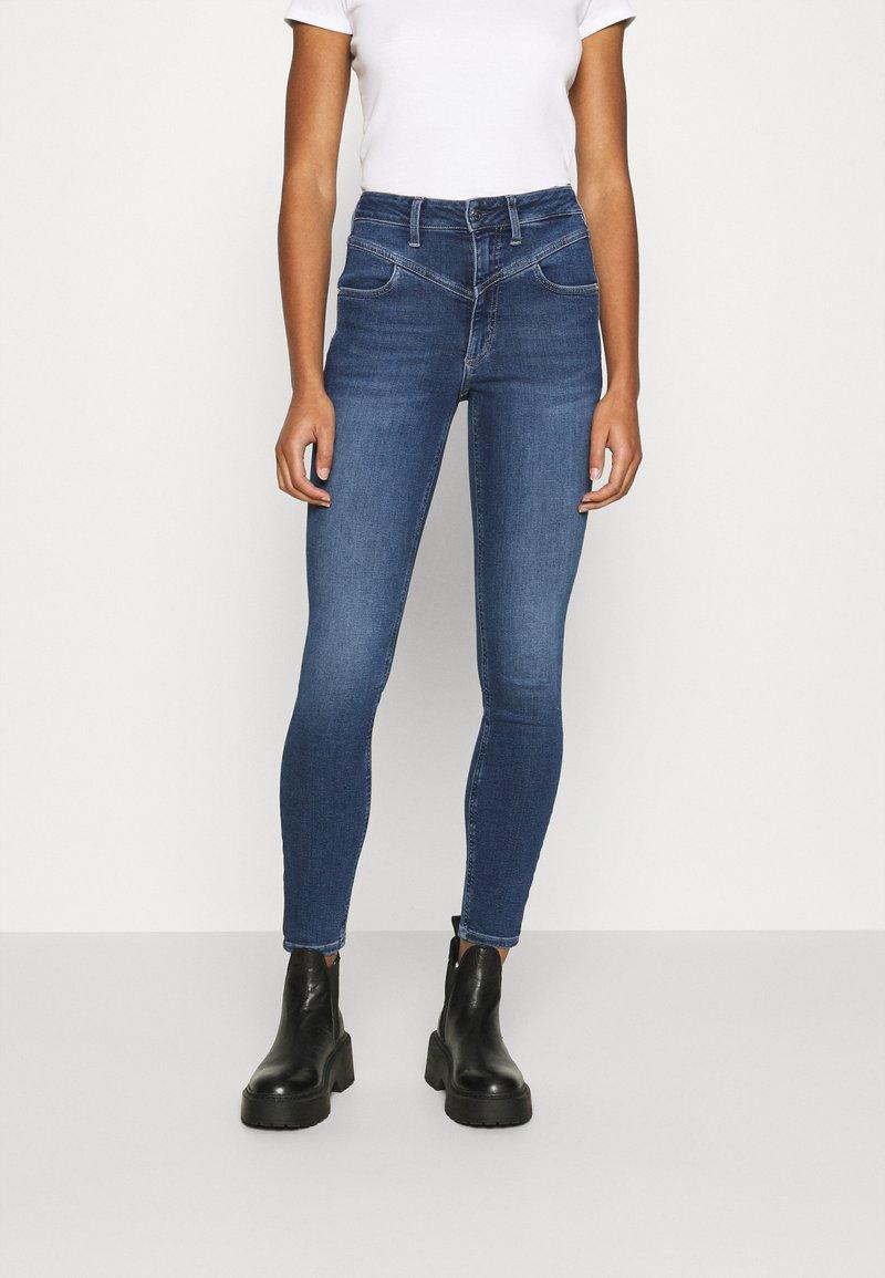 Calvin Klein - HIGH RISE - Jeans Skinny Fit - dark blue