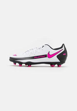 PHANTOM GT CLUB FG/MG UNISEX - Moulded stud football boots - white/pink blast/black