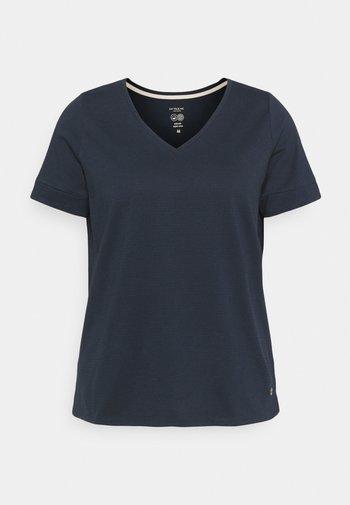 CUFF DETAIL - Print T-shirt - sky captain blue