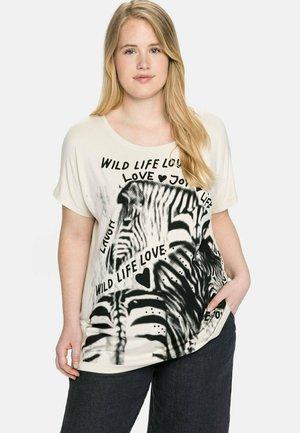 T-shirt imprimé - beigefarben