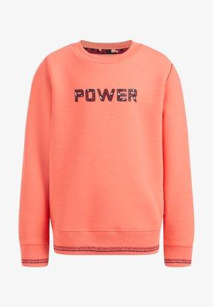 MEISJES SWEATER MET OPDRUK - Sweatshirts - bright orange