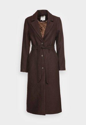 LOOK LONG COAT - Klassinen takki - dark oak brown