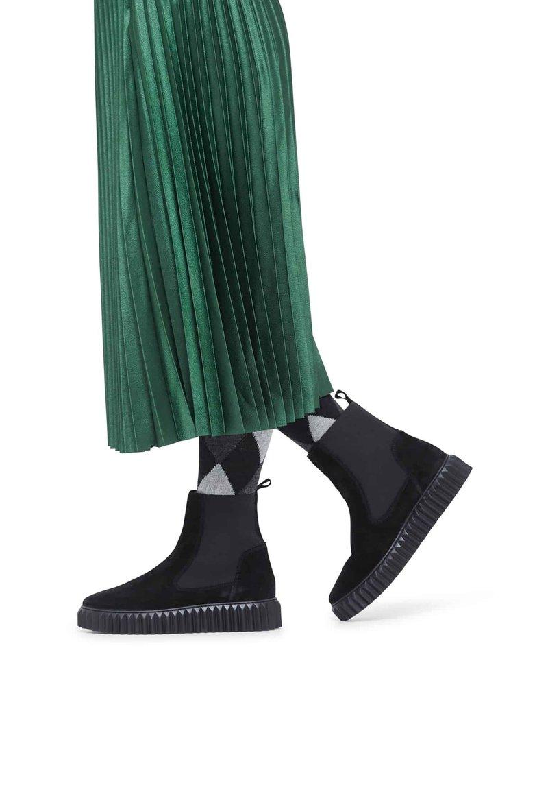 Voile Blanche - BETH - Platform ankle boots - schwarz