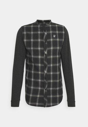 CHECK GRANDAD - Shirt - charcoal