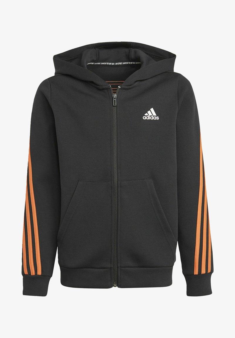 adidas Performance - STRIPES DOUBLEKNIT FULL-ZIP HOODIE - Training jacket - black